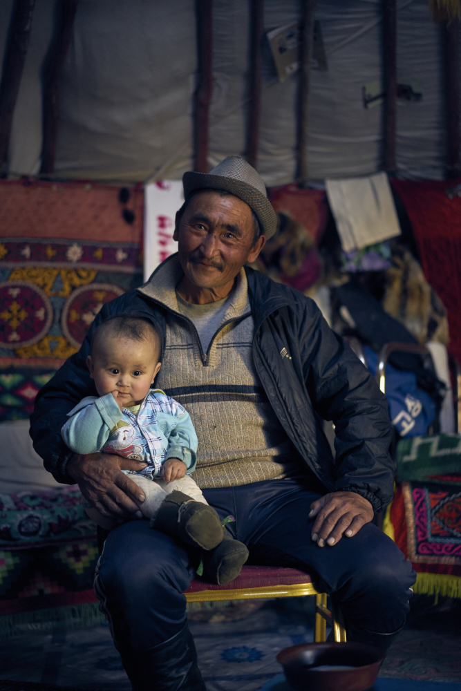 Haizem with one of his many grandkids.
