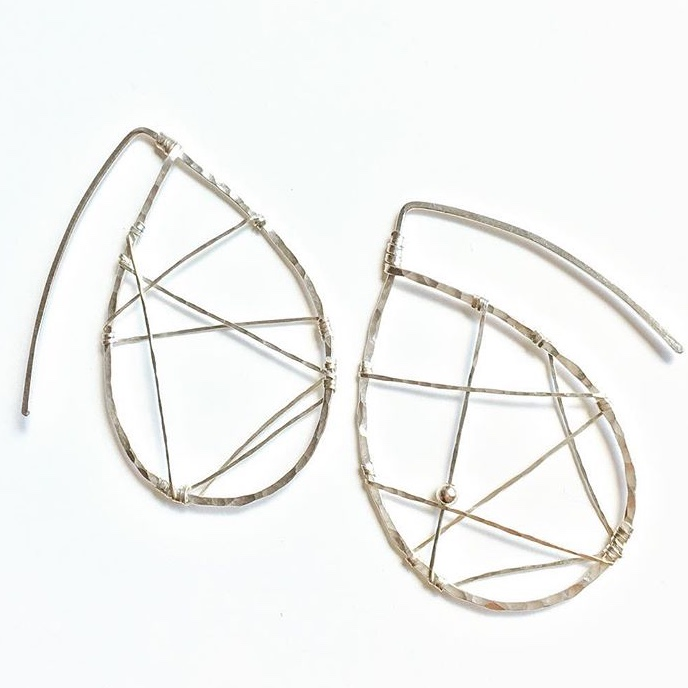 Metta8 Modern Dream Catcher Earrings