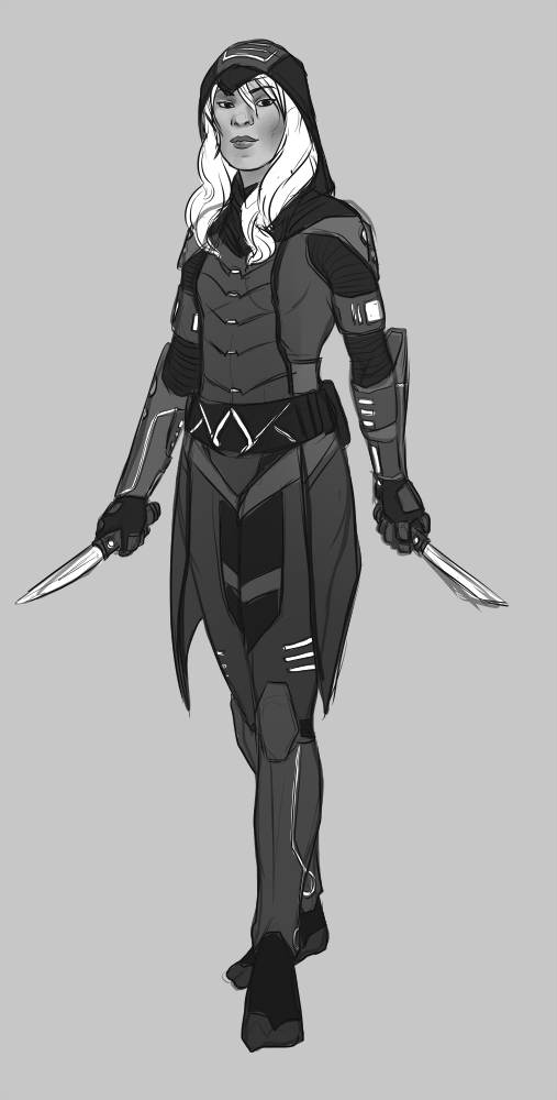 Future Assassin Sketch