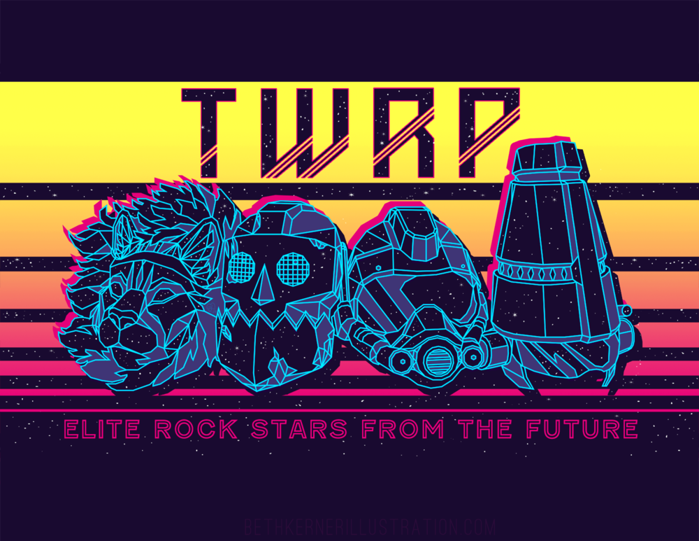 Mock TWRP shirt design for fun because I love those rad nerds