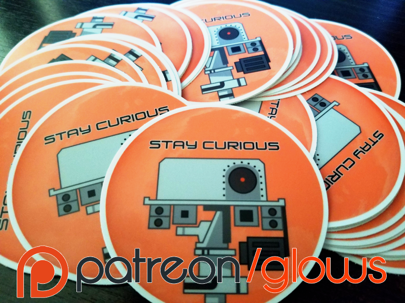 Patreon Curiosity Stickers