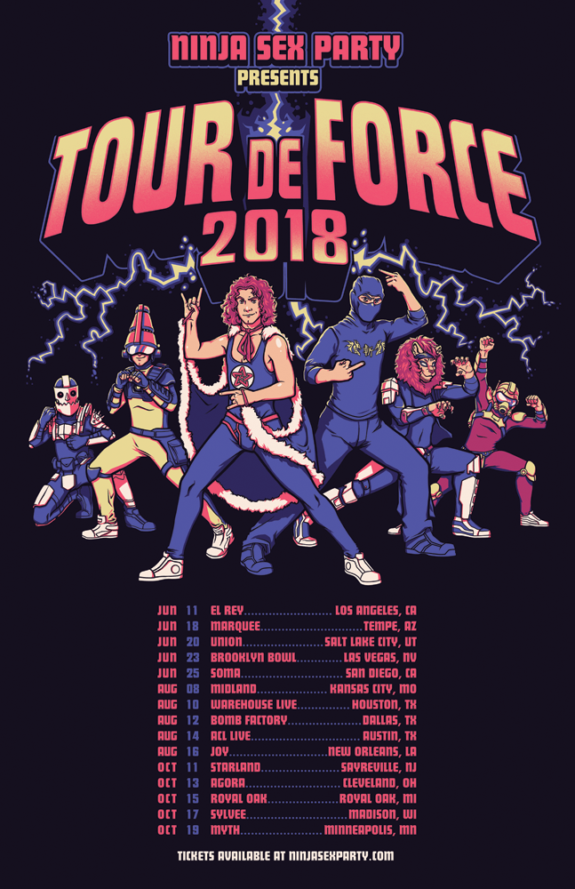 NSP Tour de Force Poster - Collab done with Lazerhorse