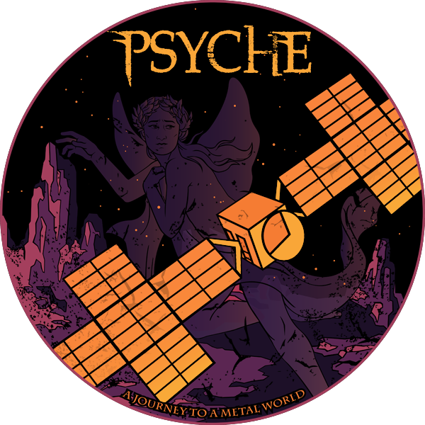 NASA's Psyche Mission Sticker Design