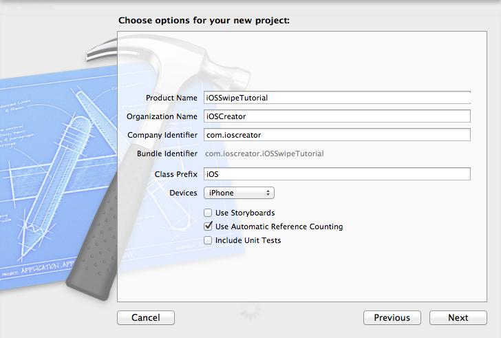 Swipe_Project_Options