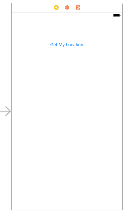 Requesting permission in core location tutorial ioscreator go to the storyboard drag a button to the main view double click the button and change the title to get location the storyboard will look like this thecheapjerseys Choice Image