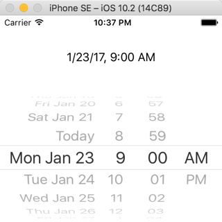 Display Date With Date Picker Ios Tutorial Ioscreator