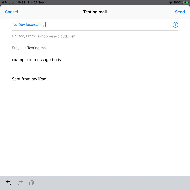 Send Email iOS Tutorial - iOScreator