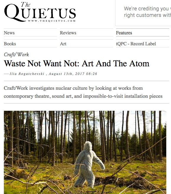 Article Feature,  The Quietus - Aug, 2017