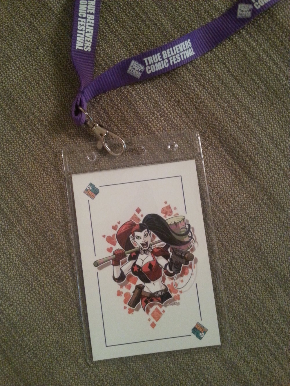 The 2016 True Believer Lanyard featuring harley quinn by Jack Lawrence