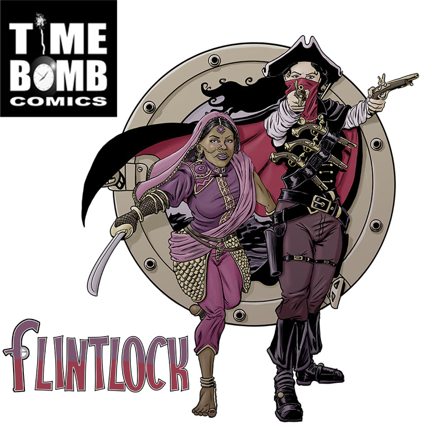 "FLINTLOCK & TIME BOMB COMICS - Time Bomb Comics is a British comics company that publishes one-shots, graphic novels and the ongoing ""Flintlock"" anthology adventure series. Based in Birmingham, England, Time Bomb Comics was created in September 2007 with one simple ambition: To tell great stories in the comics medium. Comics released under the Time Bomb Comics banner are diverse in theme, genre and format, and come with only one limitation - the imagination of their creative teams.WEBSITETAKES CARD PAYMENTS"