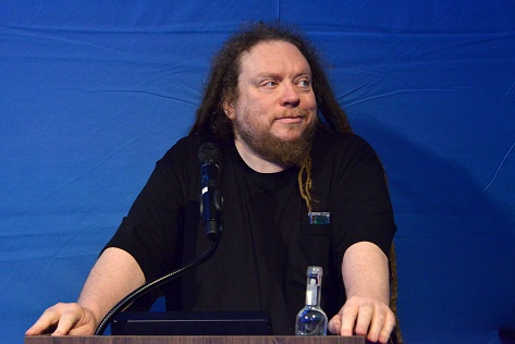 "Jaron Lanier in Berlin beim ""Digital Masterminds @Base_Camp""   Foto: Base_Camp/Presse"