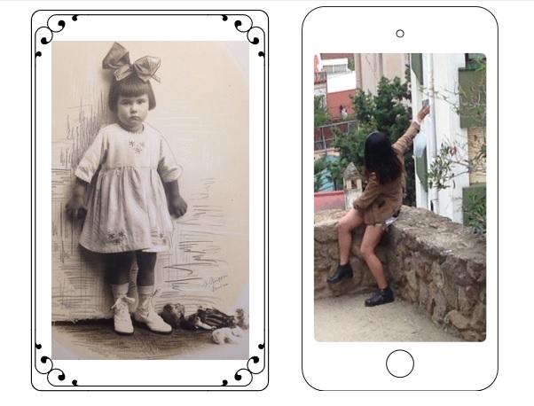 Fotos: Meine Großmutter, junge Frau knipst Selfie (Privat).