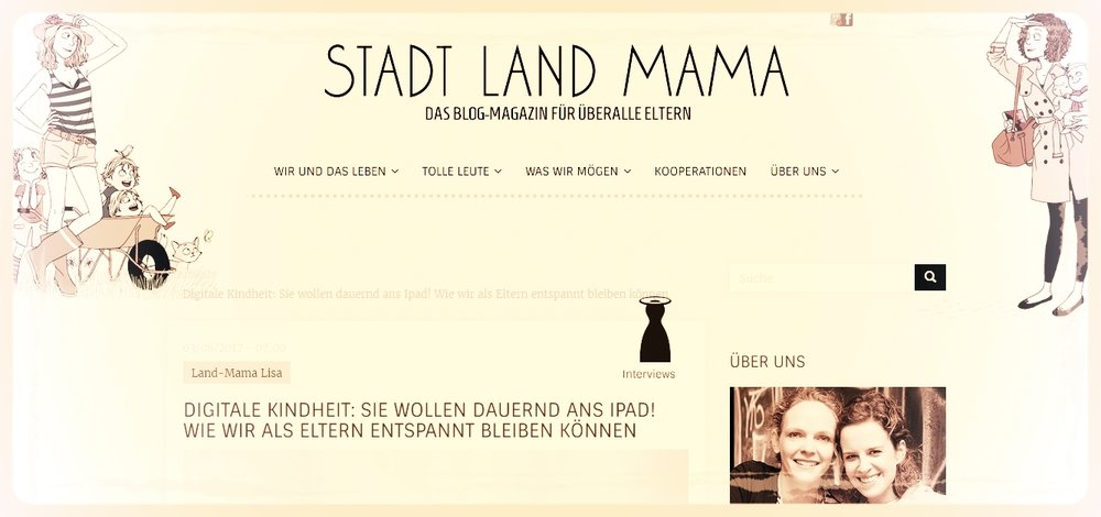 Screenshot:  StadtLandMama