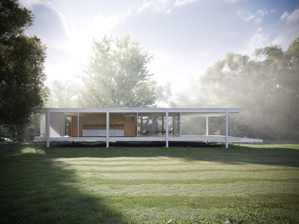 farnsworth house peter guthrie. Black Bedroom Furniture Sets. Home Design Ideas