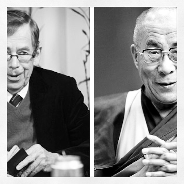 Vaclav Havel & The Dalai Lama. Two men, friends, true humanitarians, who touched the hearts and souls of millions.
