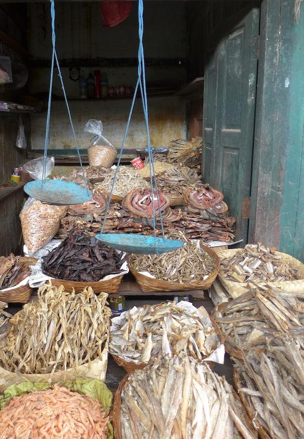 Dried fish. Lots of it.