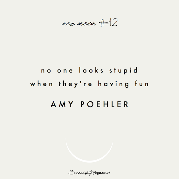 no one looks stupid when they're having fun // amy poehler