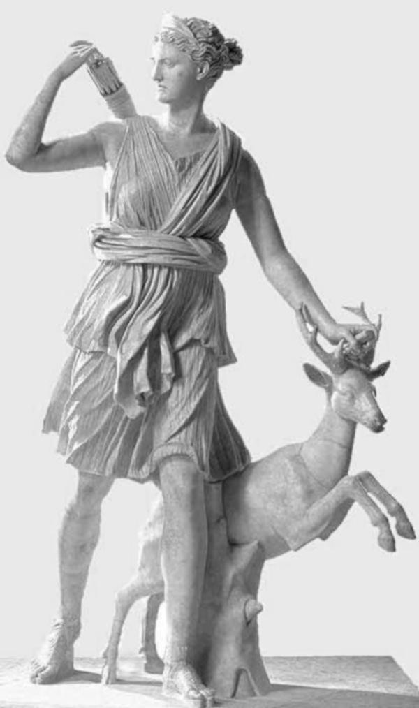 """Artemis """"Diana of Versailles"""", marble statue, Musée du Louvre, Paris"""