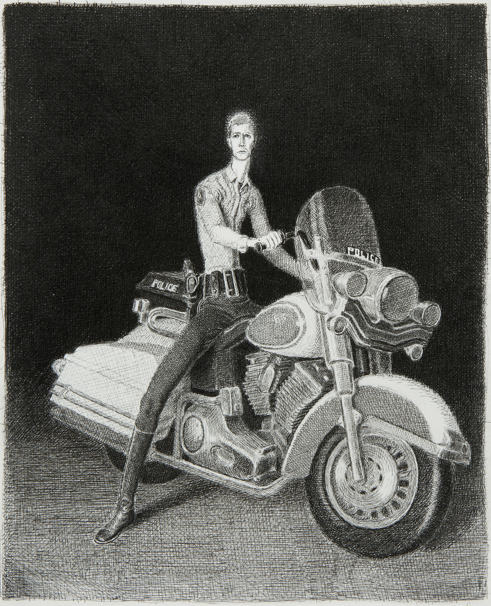 Study for Motorcycle Cop