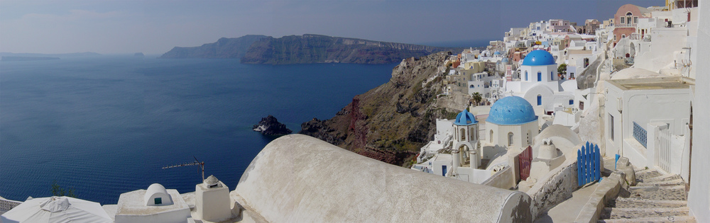 the view of the Caldera in Santorini