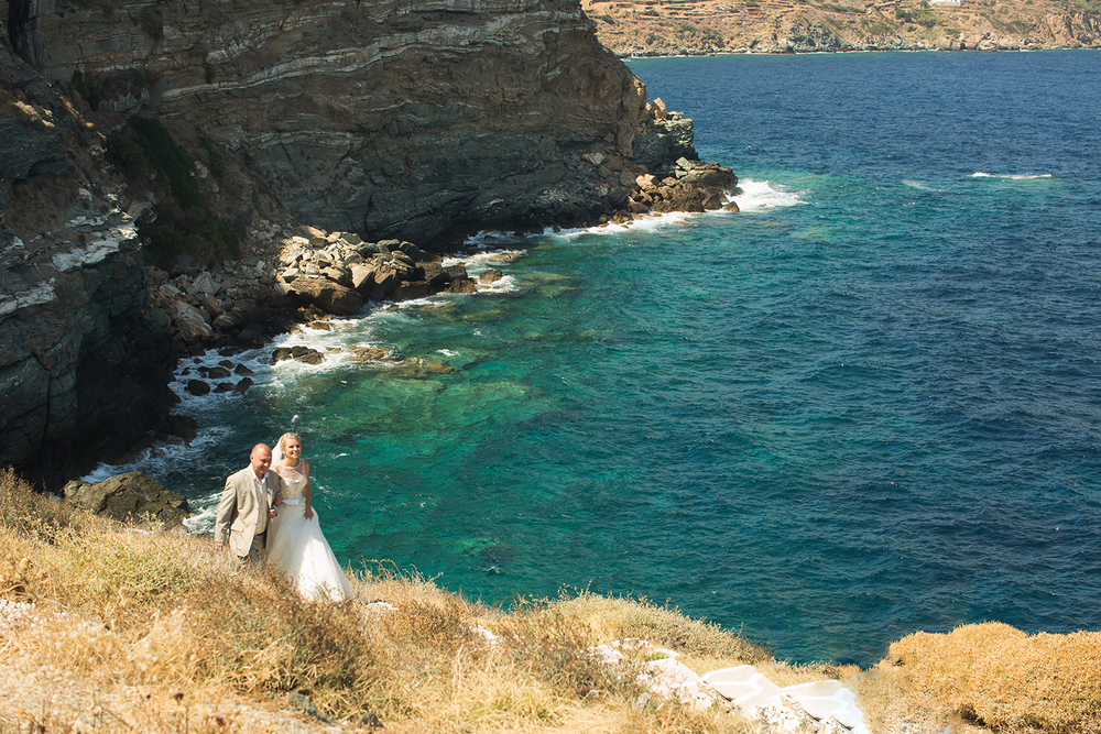 bride father sifnos wedding