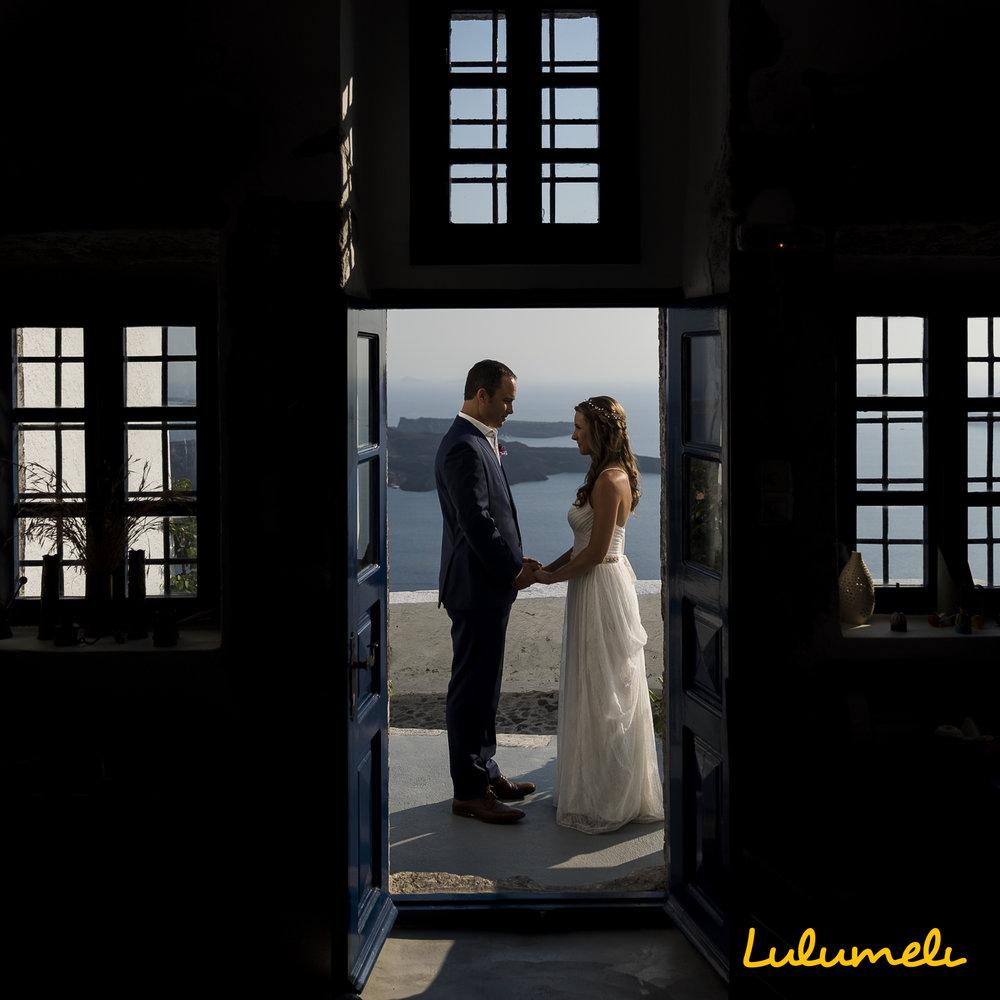santorini elopement photography