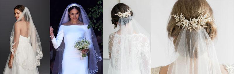 Το βέλο φορεμένο είτε με σινιόν ή μαλλιά κάτω καισυνδιάσμένο με διάφορα αξεσουάρ, απο φρέσκα λουλούδια διακοσμητικά hairclips, ακόμα και τιάρες.