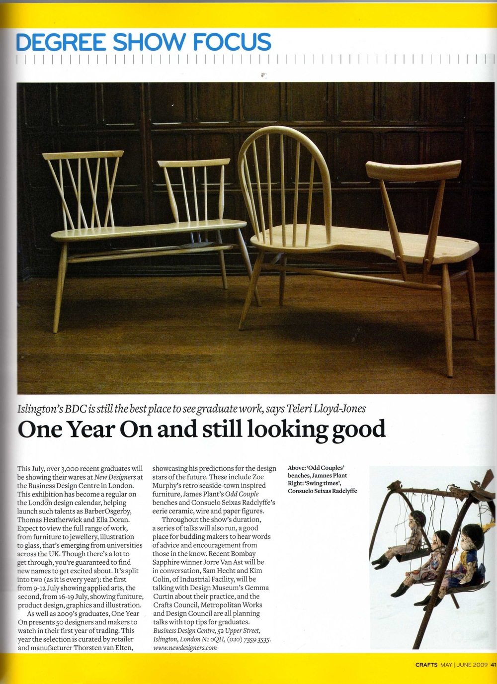 Publication: Craft Magazine, June 2012