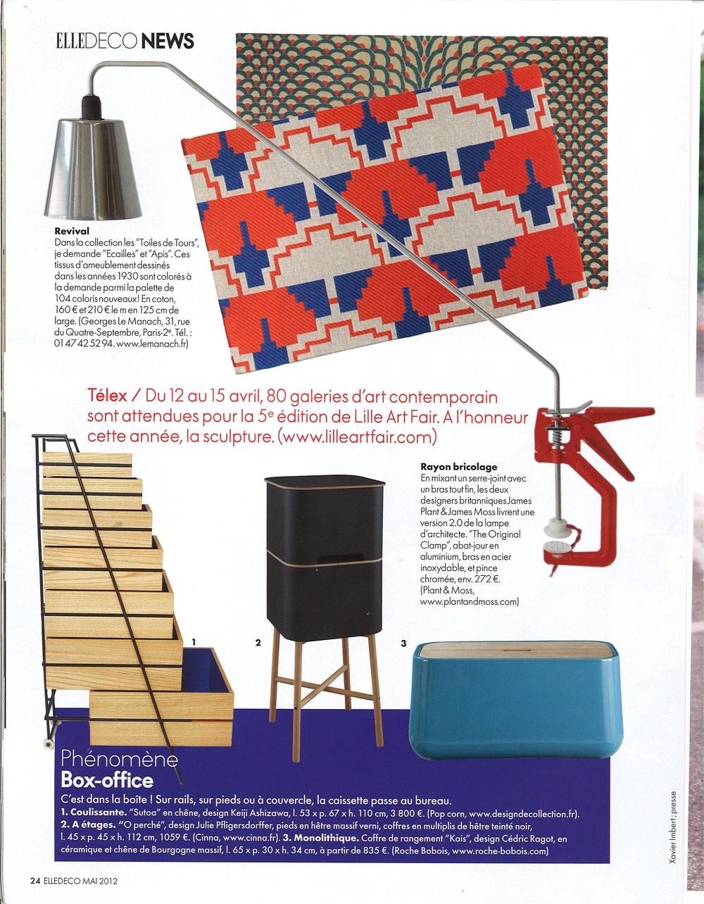 Publication: Elle Decoration: France, May 2012