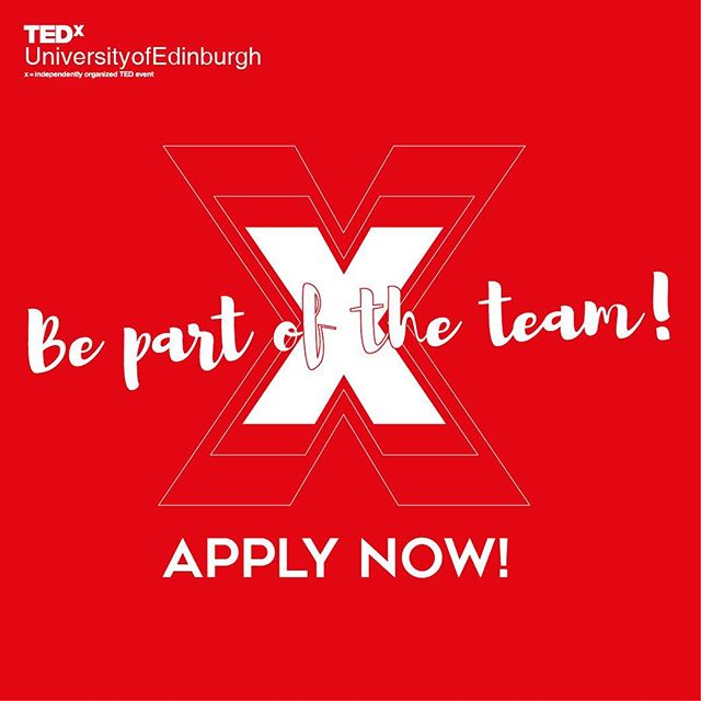 Committee applications are open until 5pm on the 24th! Apply heeeere: http://www.tedxuniversityofedinburgh.co.uk/join-the-committee/