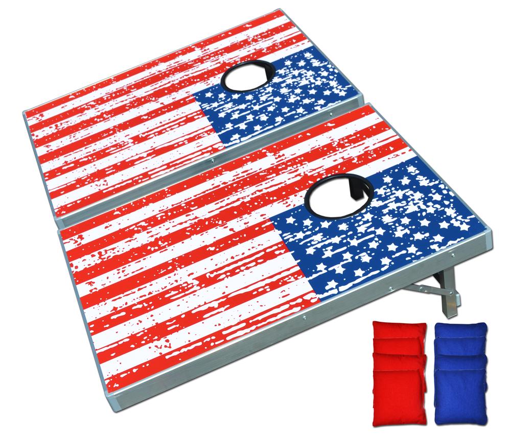 American Flag Cornhole Game