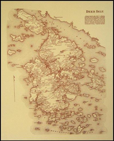 1880s Map: Deer Isle — Penobscot Books