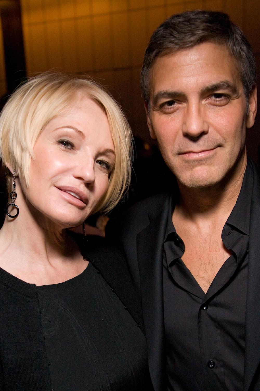 Ellen Barkin & George Clooney