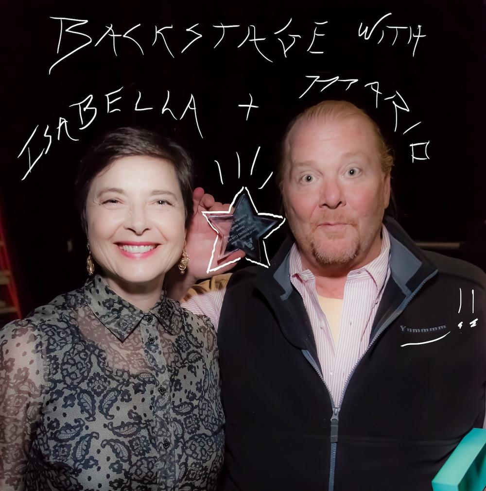Isabella Rossellini & Mario Batali