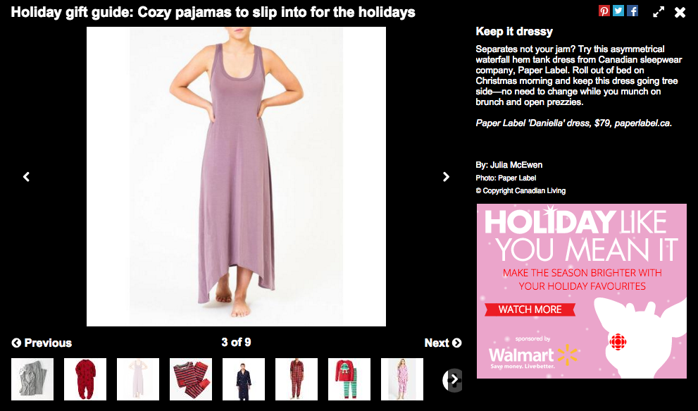 Paper Label DANIELLA dress // $79