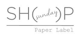 the SUNDAY SH( )P by Paper Label