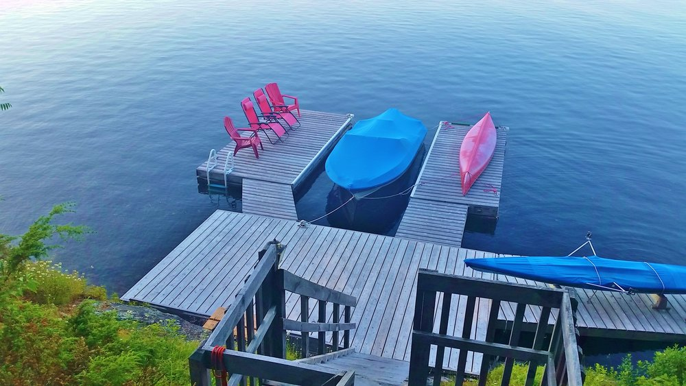 Private Dock on Gull Lake