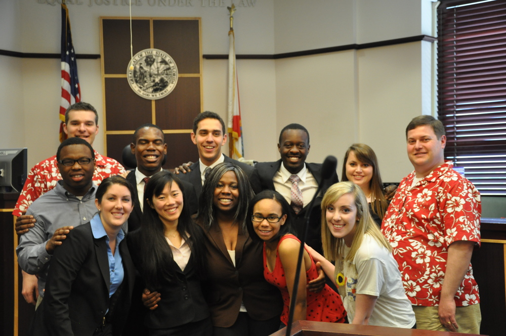 Miami A (top row, left to right) Zowoi Malakpa (2014), Neal Schuett, Brandon Patterson (2014), Alex Block (2014), Brad Ouambo (2014), Allie Pickerill (2014), Dan Haughey Bottom row: Lauren Yates (2014), Claire Meikle (2014), Deb O'Neal (2014), Jazmine Kee (2017), Katie O'Keeffe (2014) Not pictured: David Payne (2014), Oliver Zoellner (2017)