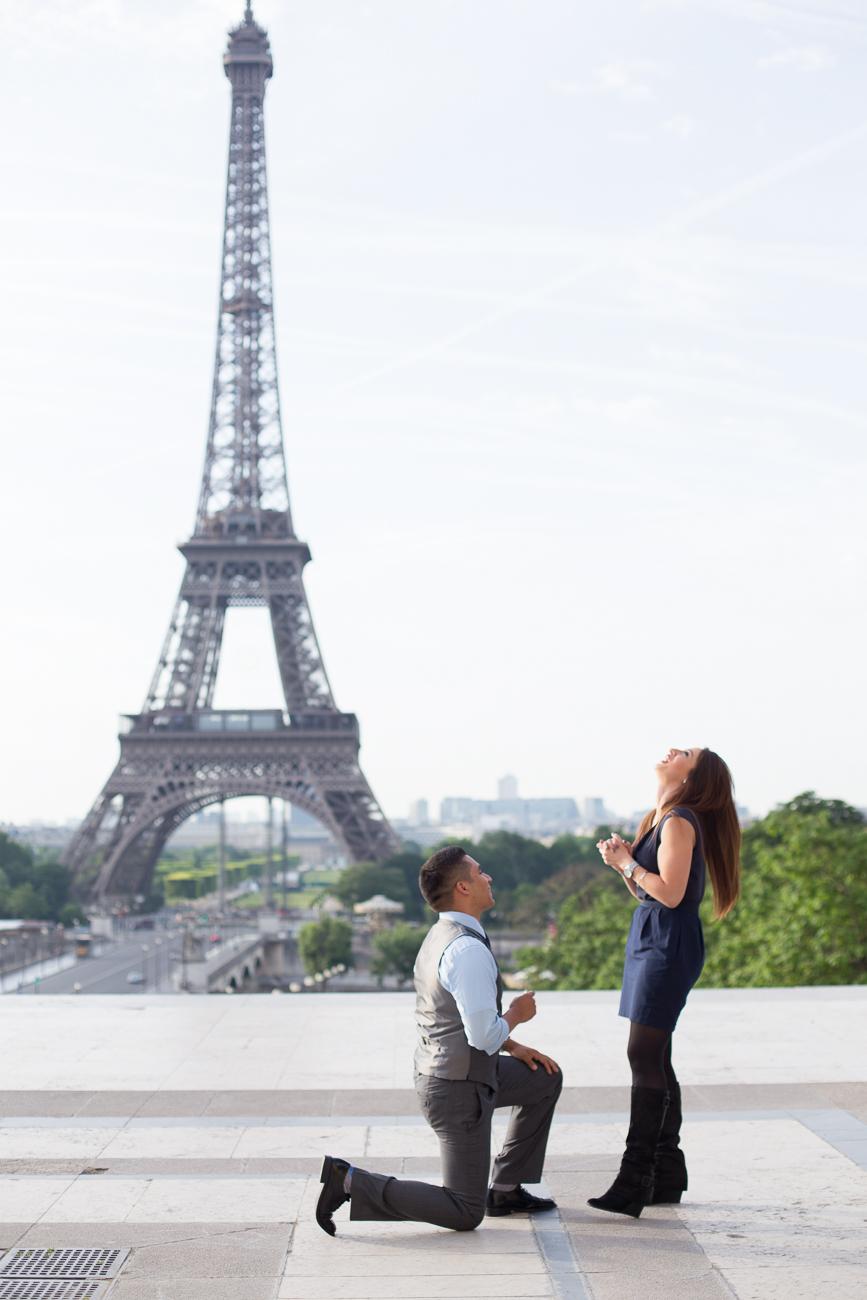 Carlos + Irma: A Paris Proposal at the Eiffel Tower ...
