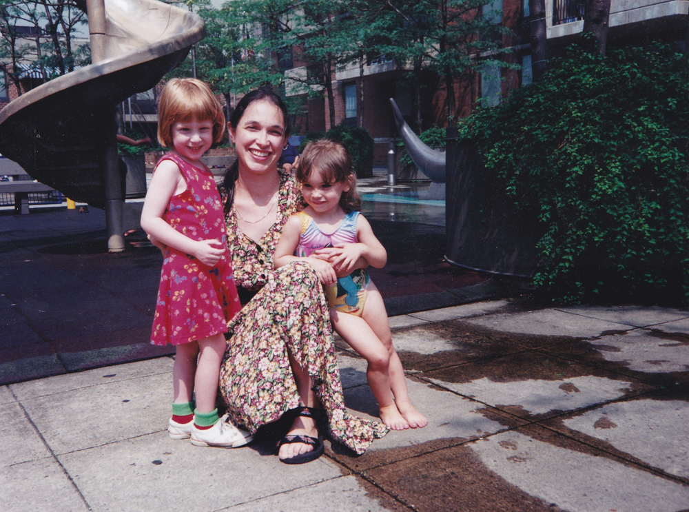 This is my cousin/best friend, my mom and I at my favorite childhood playground, Manhattan Plaza in NYC