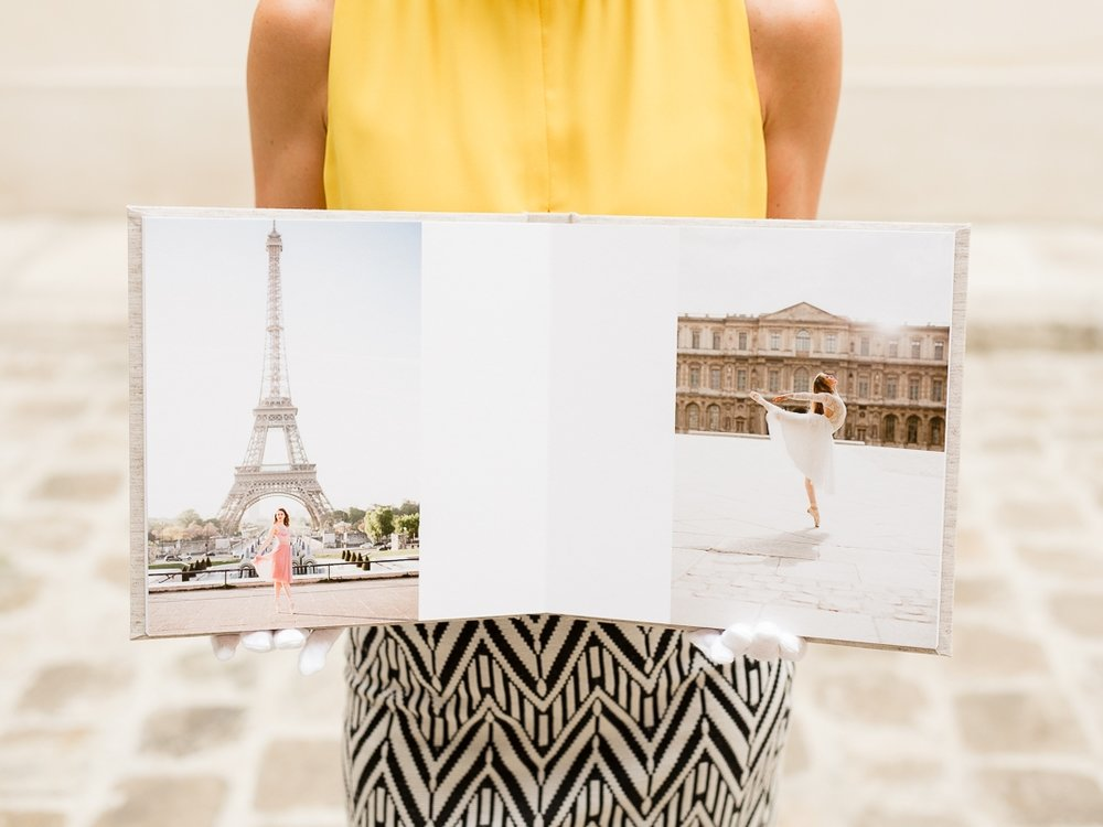 Legacy Album - A stunning museum quality album as your family's next heirloom. Tastefully designed with a modern feel. Hand assembled, and artfully printed on acid-free archival paper. Guaranteed not to fade for up to 100 years. Includes up to 50 of your favorite portraits, a storage box, protective cover, white gloves, and online-resolution jpegs of your retouched album portraits.