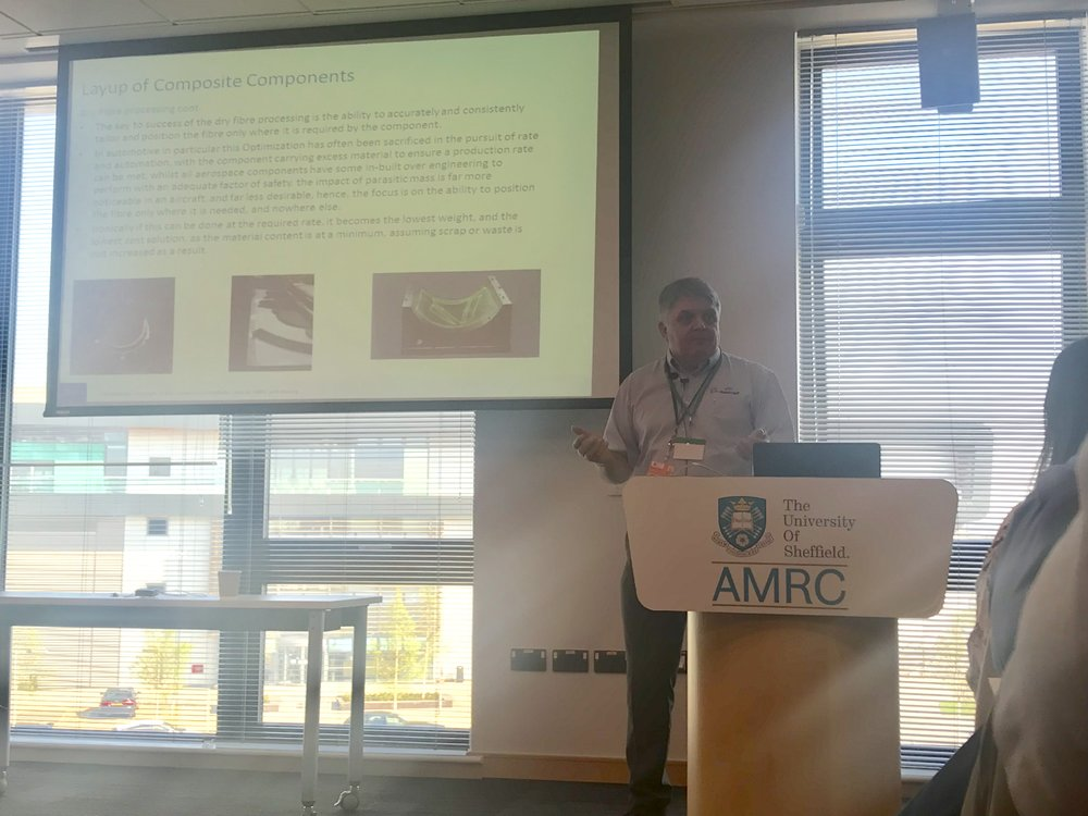Technical Manager, Rob Hewison gave an overview of aerospace innovation projects at the AMRC.