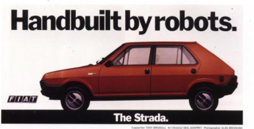 This famous advert in the 1970s heralded a new age in automotive manufacturing