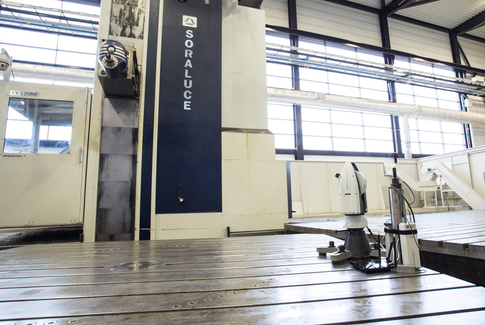 The BASELINE system set-up on the Soraluce FX12000 at the Nuclear AMRC, Rotherham.