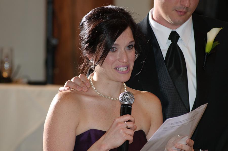 Keyston wedding Maid of Honor toast