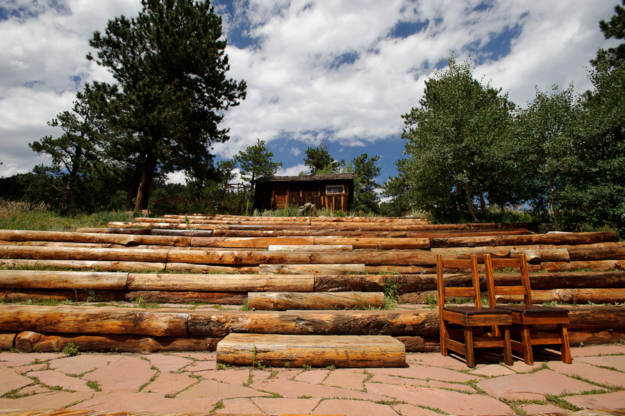 Amphitheater at Wild Basin Lodge in Roosevelt National Forest Colorado