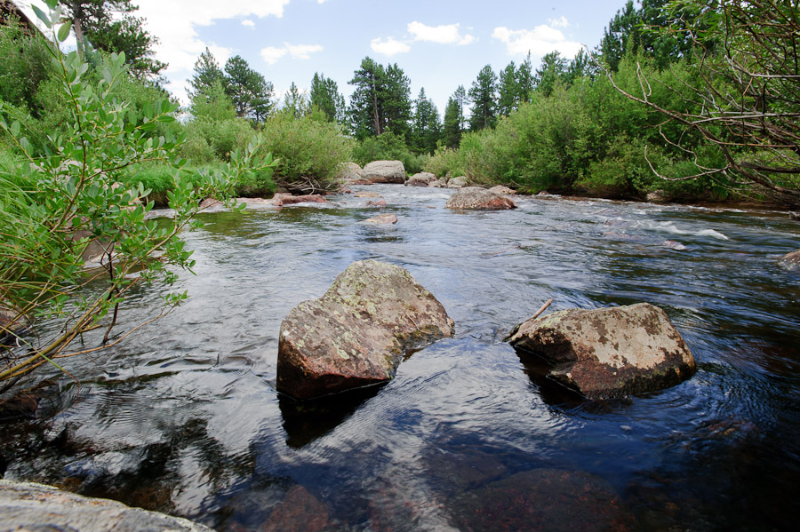 Stream near Wild Basin Lodge in Roosevelt National Forest Colorado