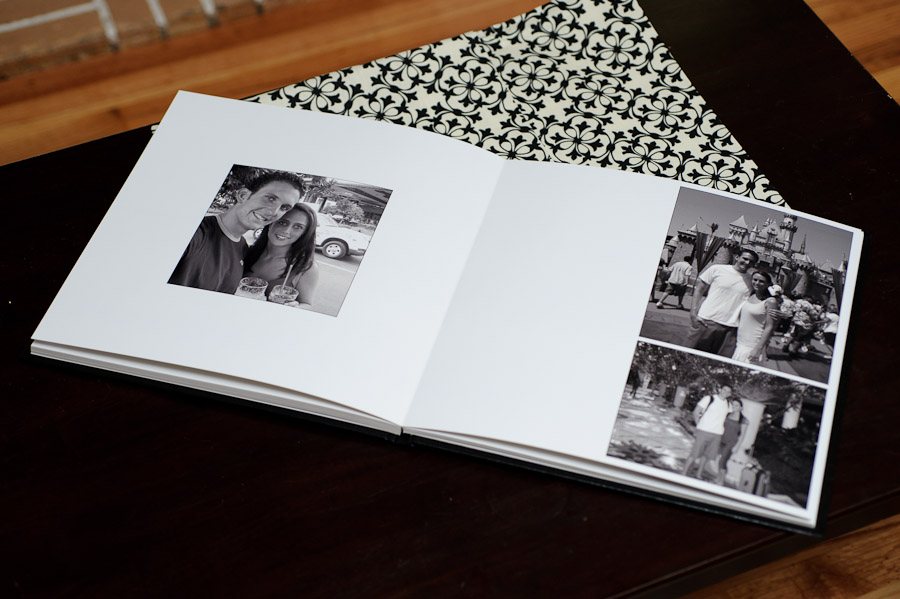 Wedding guestbook album pages