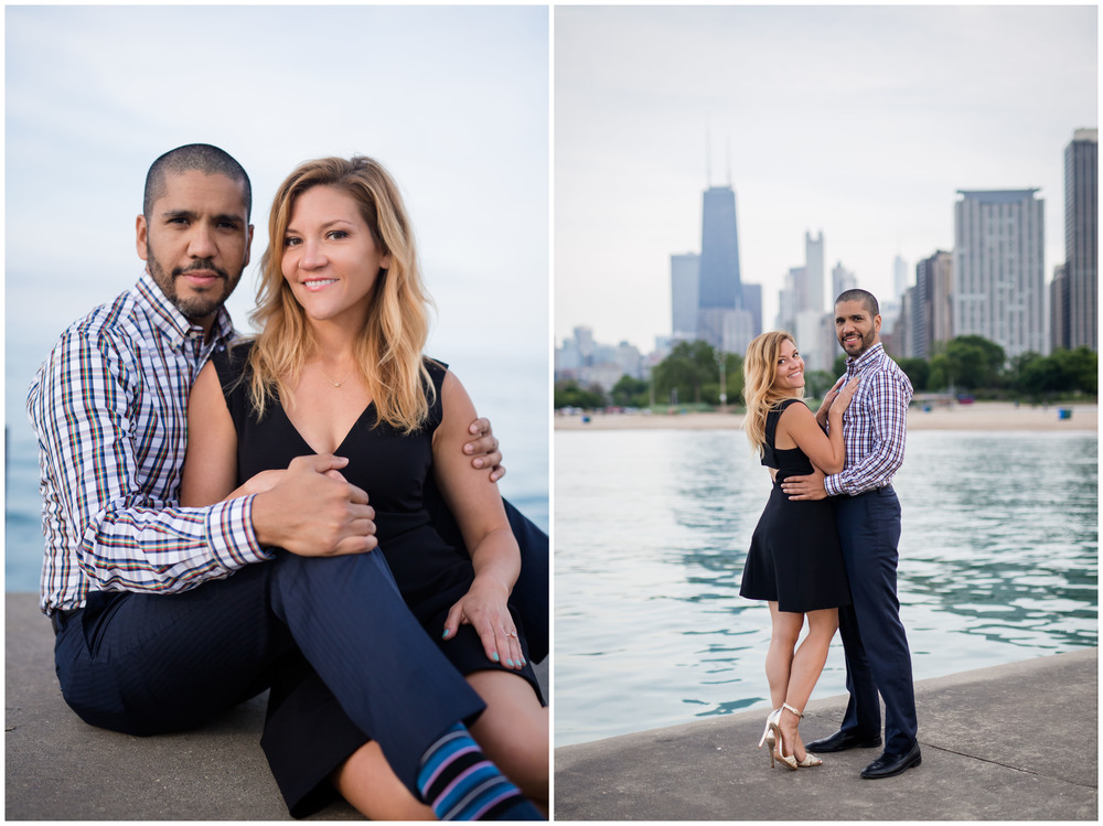 We finished the session at North Avenue beach with an amazing view of the skyline. Once the clouds came in, the lighting was so gorgeous, we didn't want to leave!! Seriously, how beautiful are these two?!