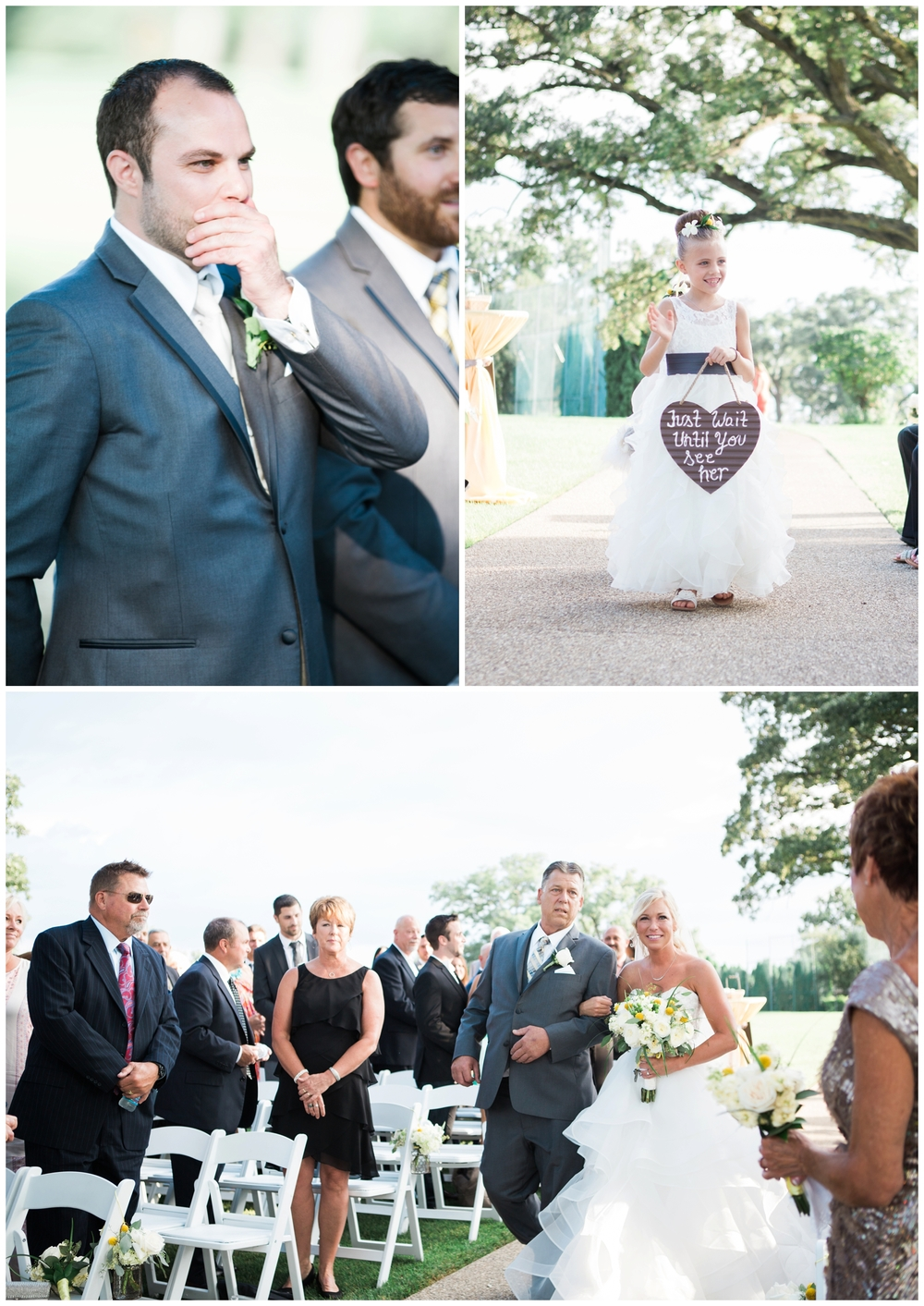 Paul was speechless as his bride came into view..